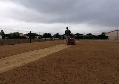 Préparation terrain pour gazon