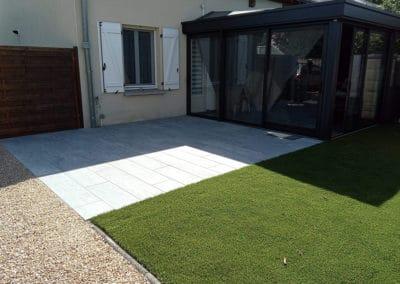 Création terrasse grés cérame