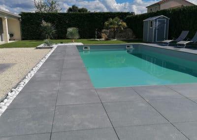 Création terrasse grés céramique à Poitiers